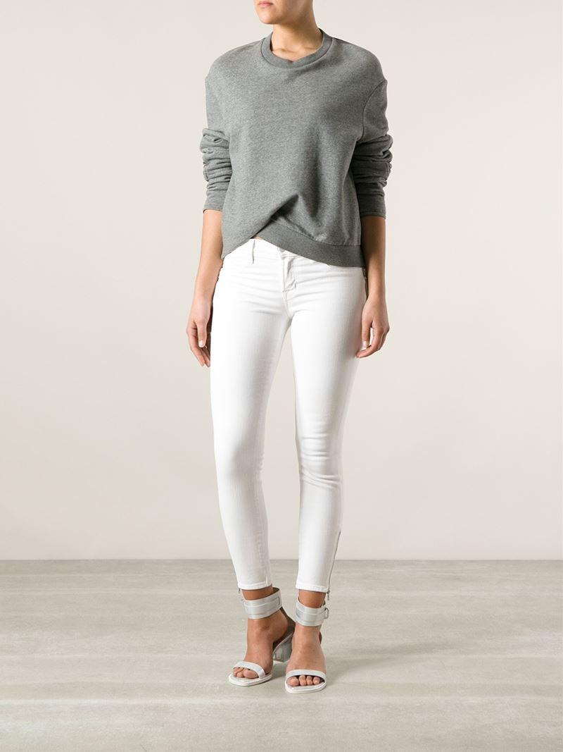 J Brand Ankle Grazer Jeans in White