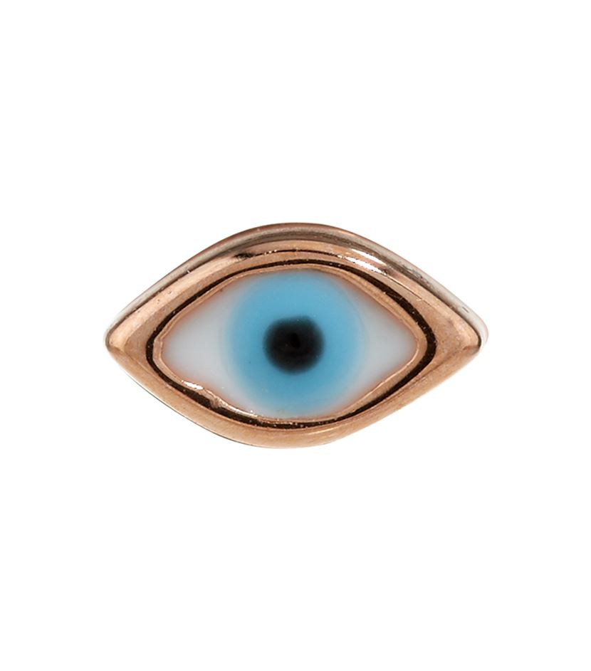 Sydney Evan Tiny Evil Eye Single Earring In Gold Lyst
