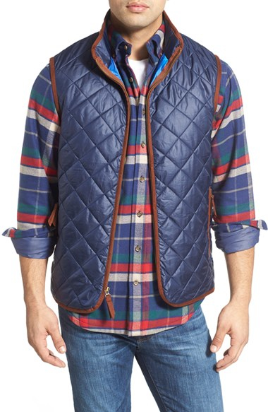 Vineyard Vines Chilmark Quilted Vest In Blue For Men Lyst