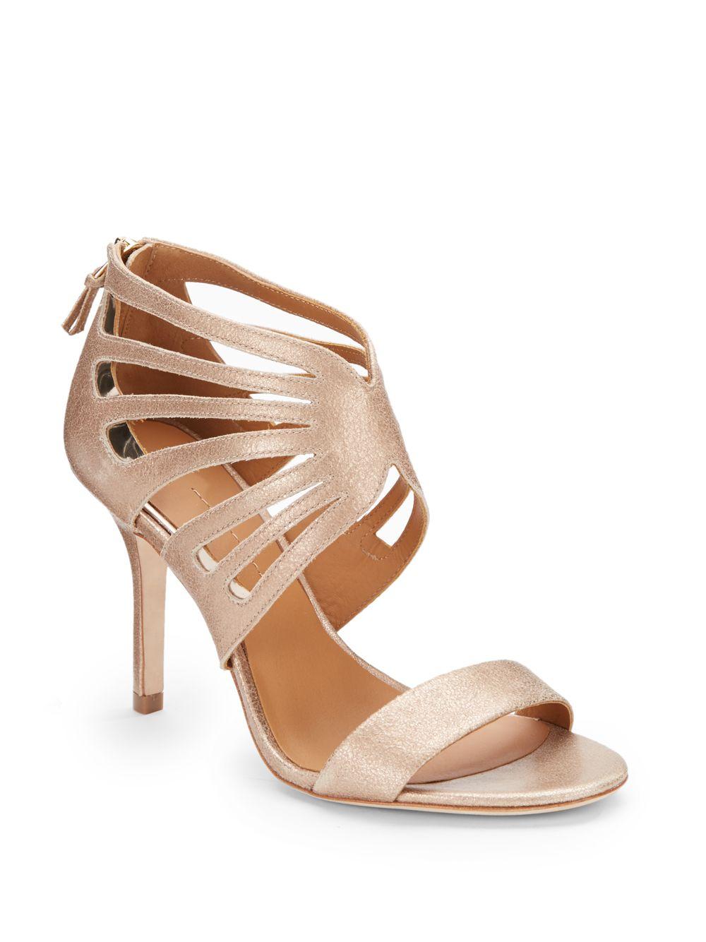 Aerin Chiara Metallic Leather Sandals In Gold Gold Blush