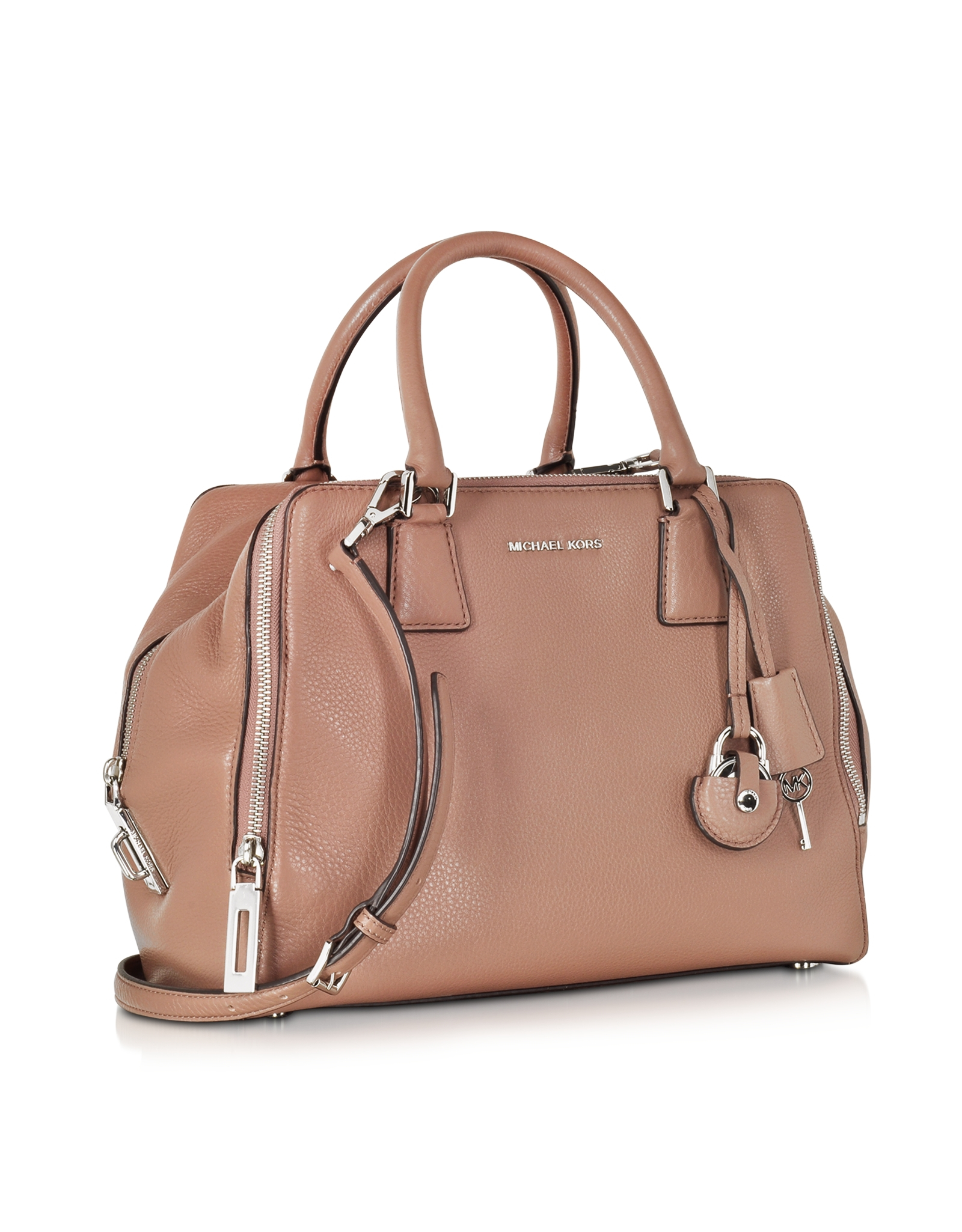 Michael kors Zoey Large Pebble Leather Satchel Bag in ...
