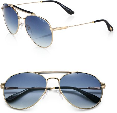 1dbc885b99942 Tom Ford Colin Metal Aviator Sunglasses in Blue for Men