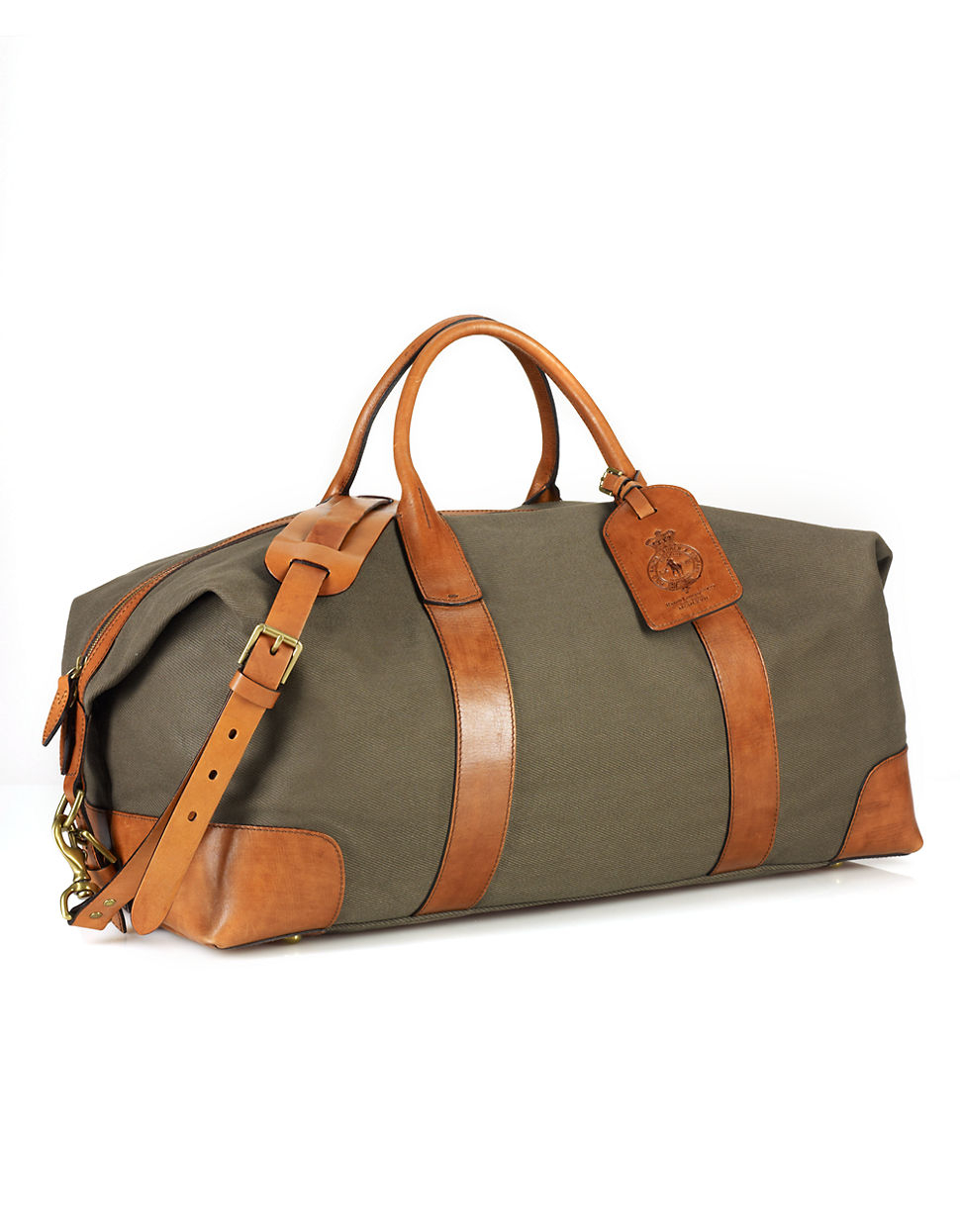 ... coupon code lyst polo ralph lauren canvas leather duffel bag in natural  for men a0bef 6e927 ad12147d27726