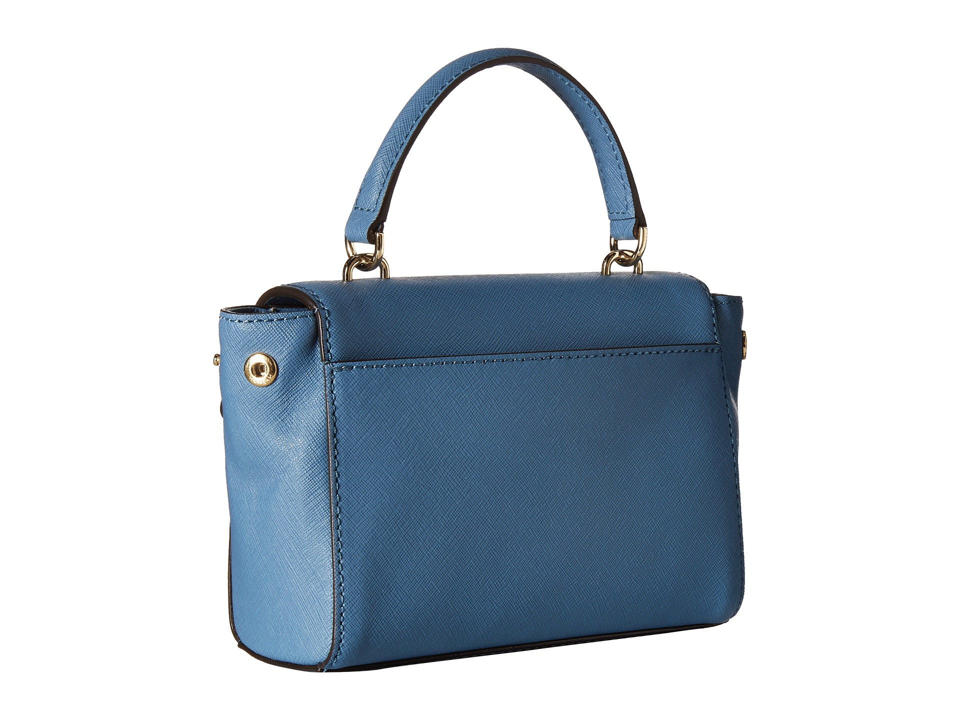 9a8b6f535d96 ... inexpensive lyst michael michael kors ava extra small crossbody in blue  9d9fa 1ccf1