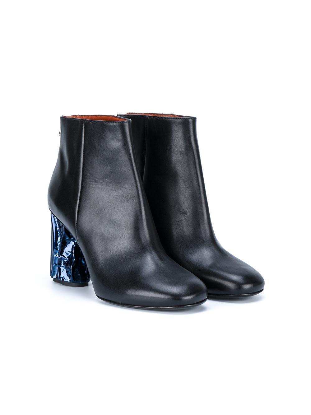 acne studios metallic heel ora boots in black lyst