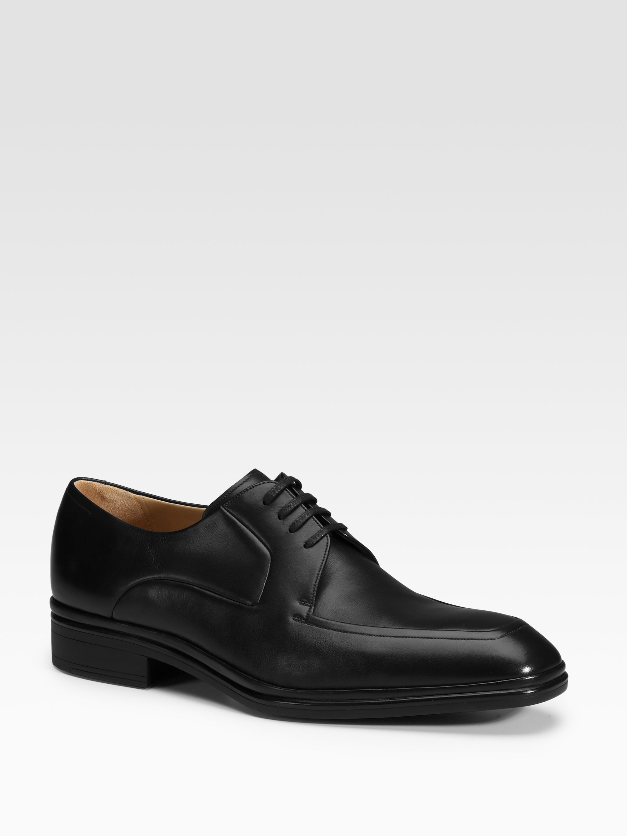 bally leather derby shoes in black for lyst