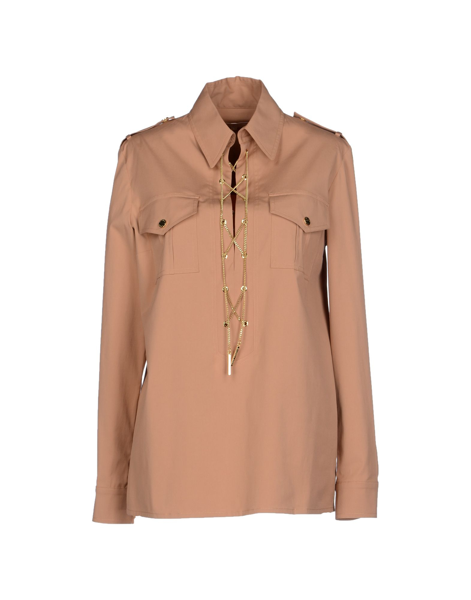 michael kors blouse in beige camel lyst. Black Bedroom Furniture Sets. Home Design Ideas