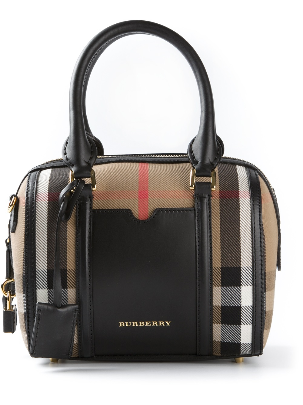 7194cbba16d7 Lyst Burberry Small Alchester Bowling Bag In Brown