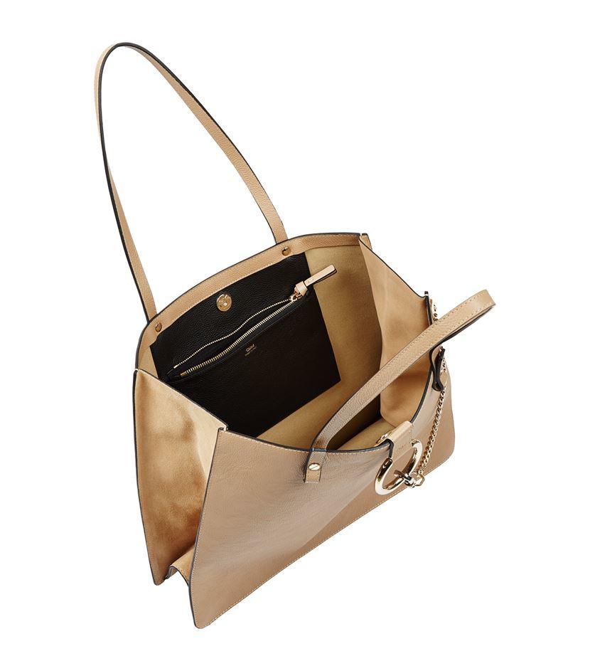 chloe handbags cheap - Chlo�� Medium Faye Tote in Beige | Lyst