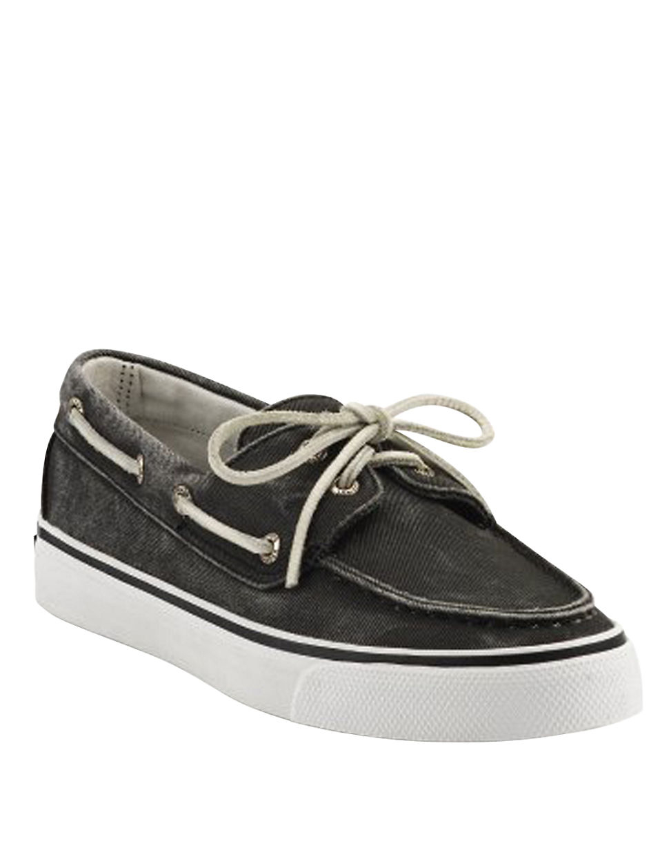 Black Canvas Boat Shoes