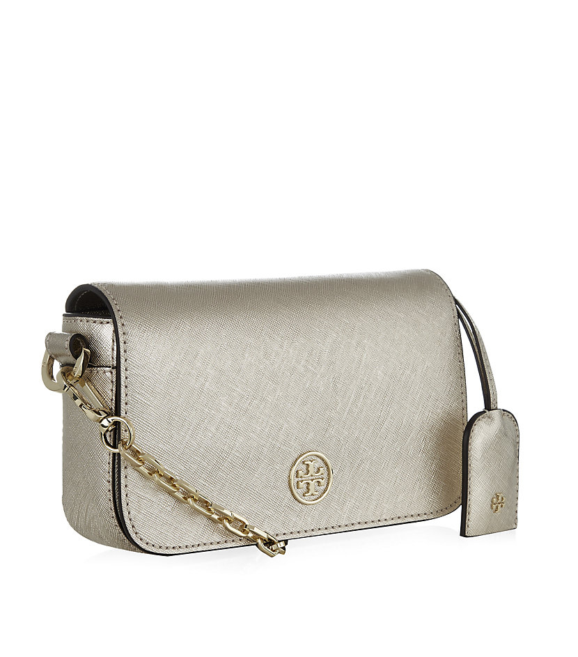 Tory Burch Robinson Mini Crossbody Bag In Metallic Lyst
