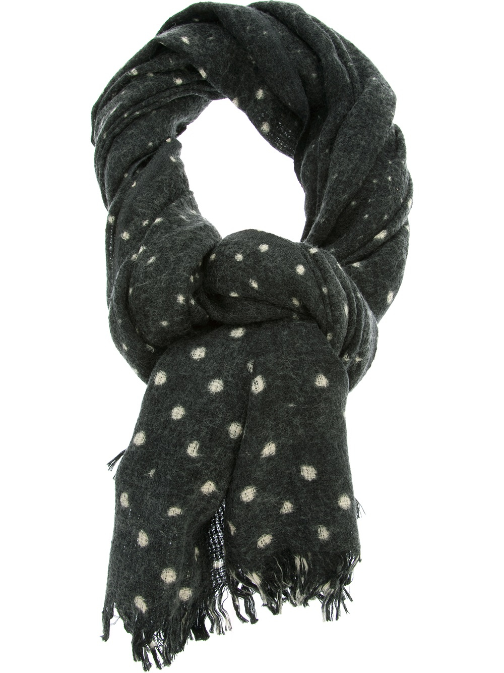 closed spotted scarf in black for lyst