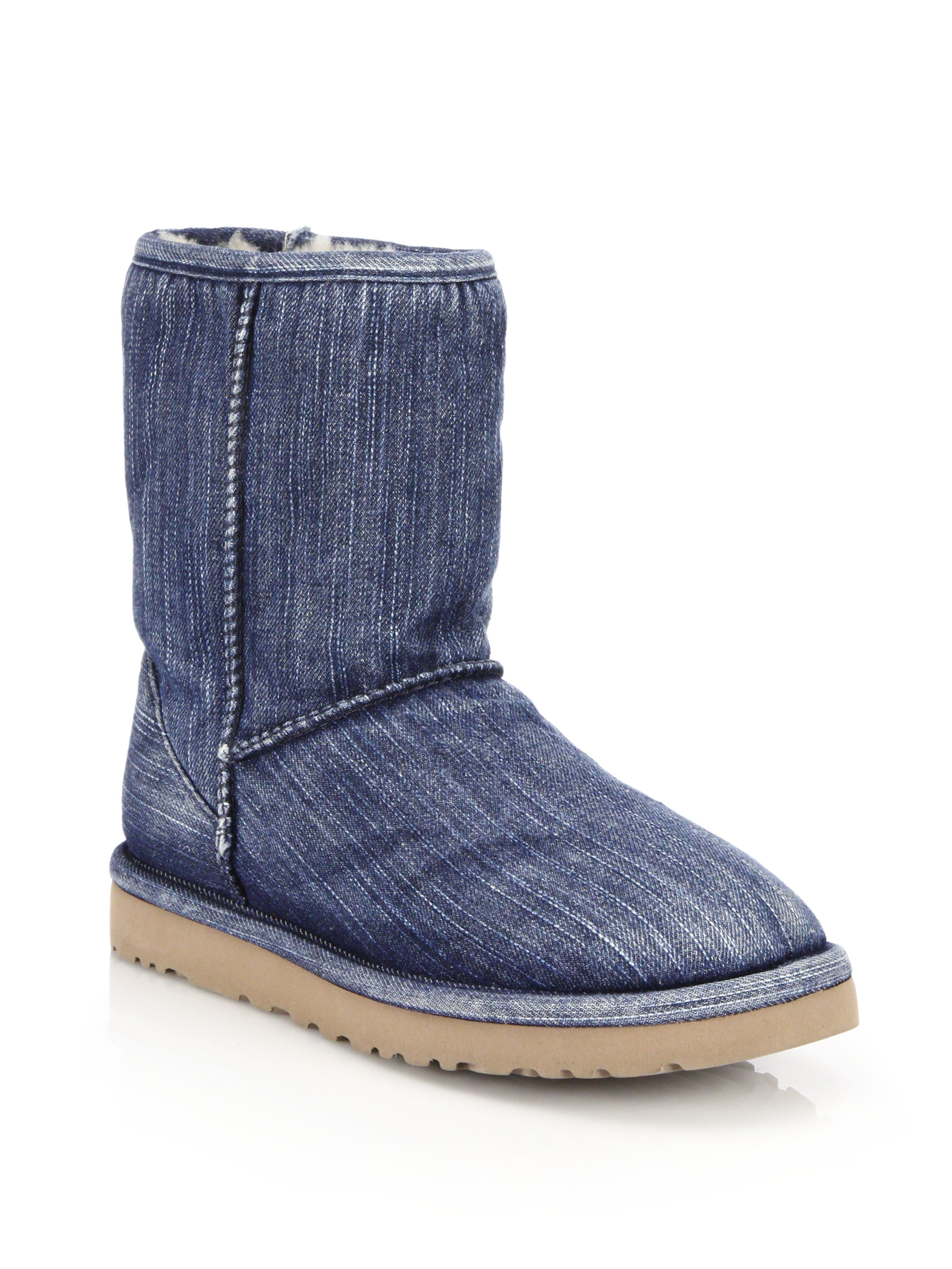 UGG Women's Classic Short Washed Denim Boot,Navy,US 6 M. by UGG. $ $ FREE Shipping on eligible orders. 5 out of 5 stars 1. men's style with the handsome Ascot Washed Denim slipper by UGG. UGG Kids T Rahjee Patches Rain Boot. by UGG. $ $ 44 95 Prime. FREE Shipping on eligible orders.