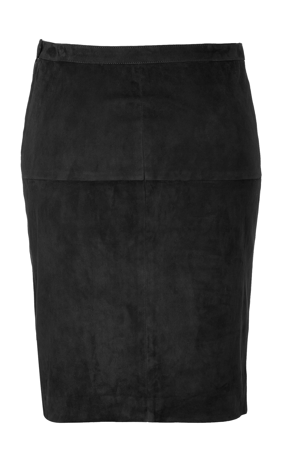 Lyst - Closed Suede Pencil Skirt in Black