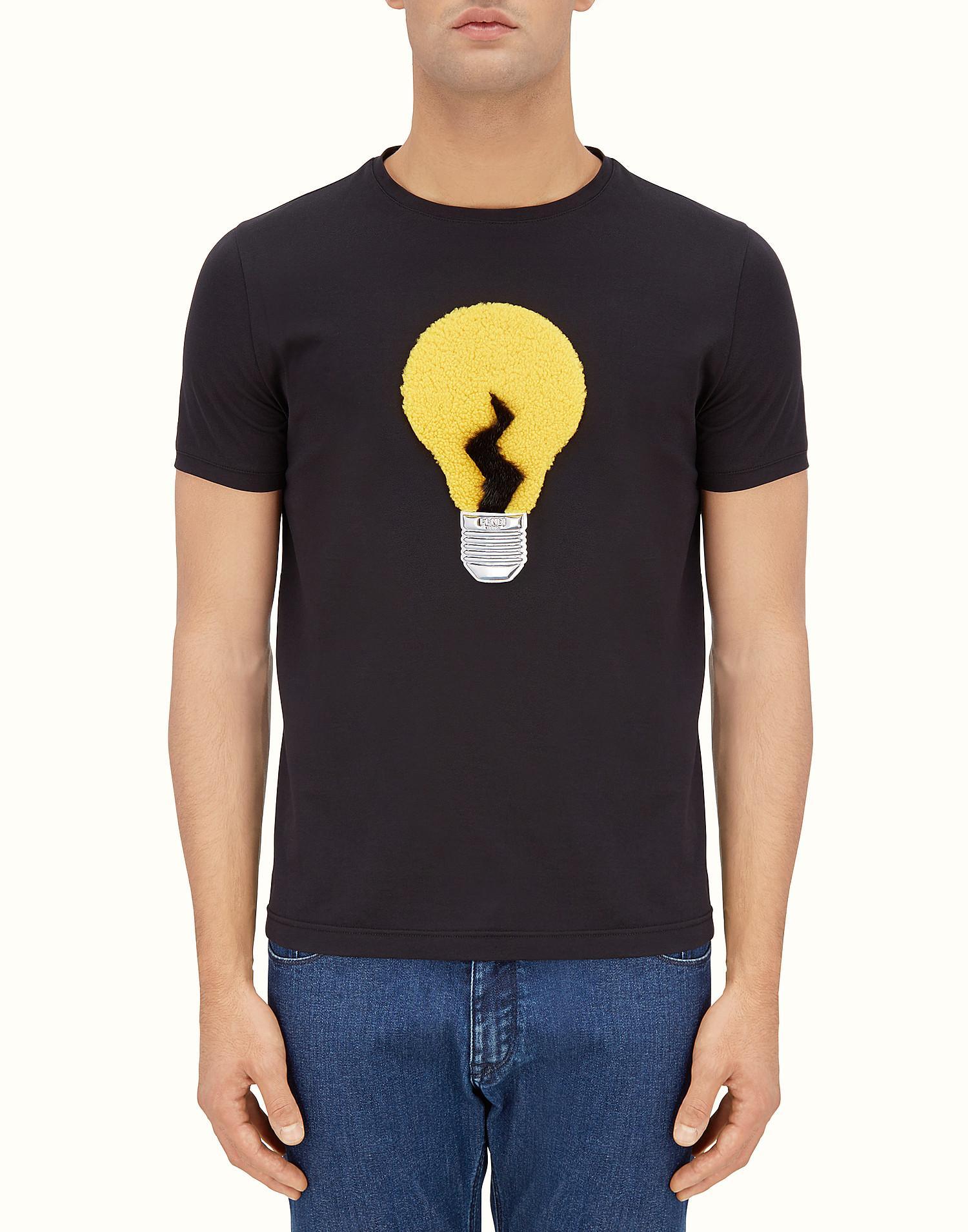 Fendi T Shirt T Shirt In Black For Men Lyst