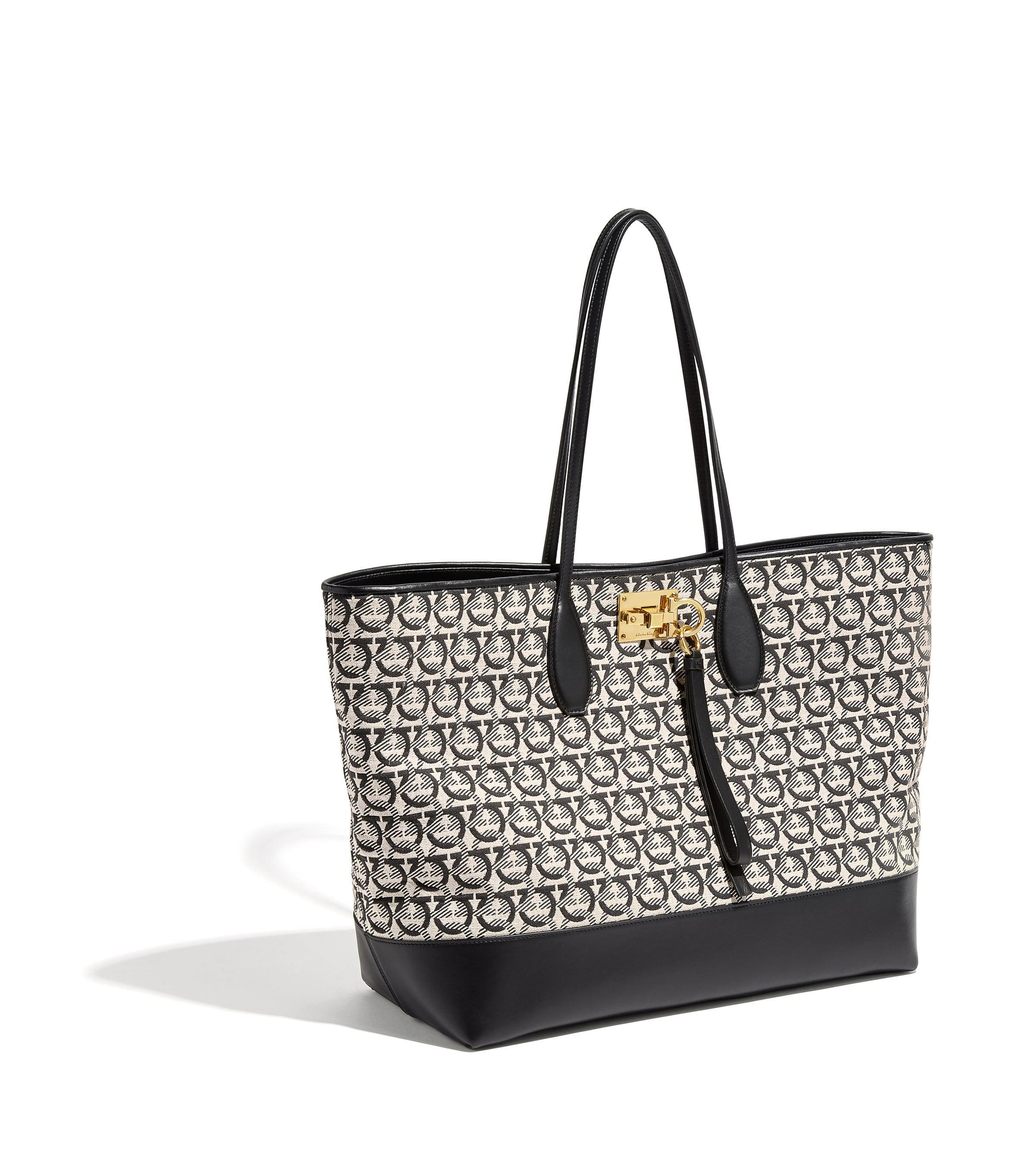684da8056c74 Lyst - Ferragamo Studio Medium Tote Bag in Black - Save 22%