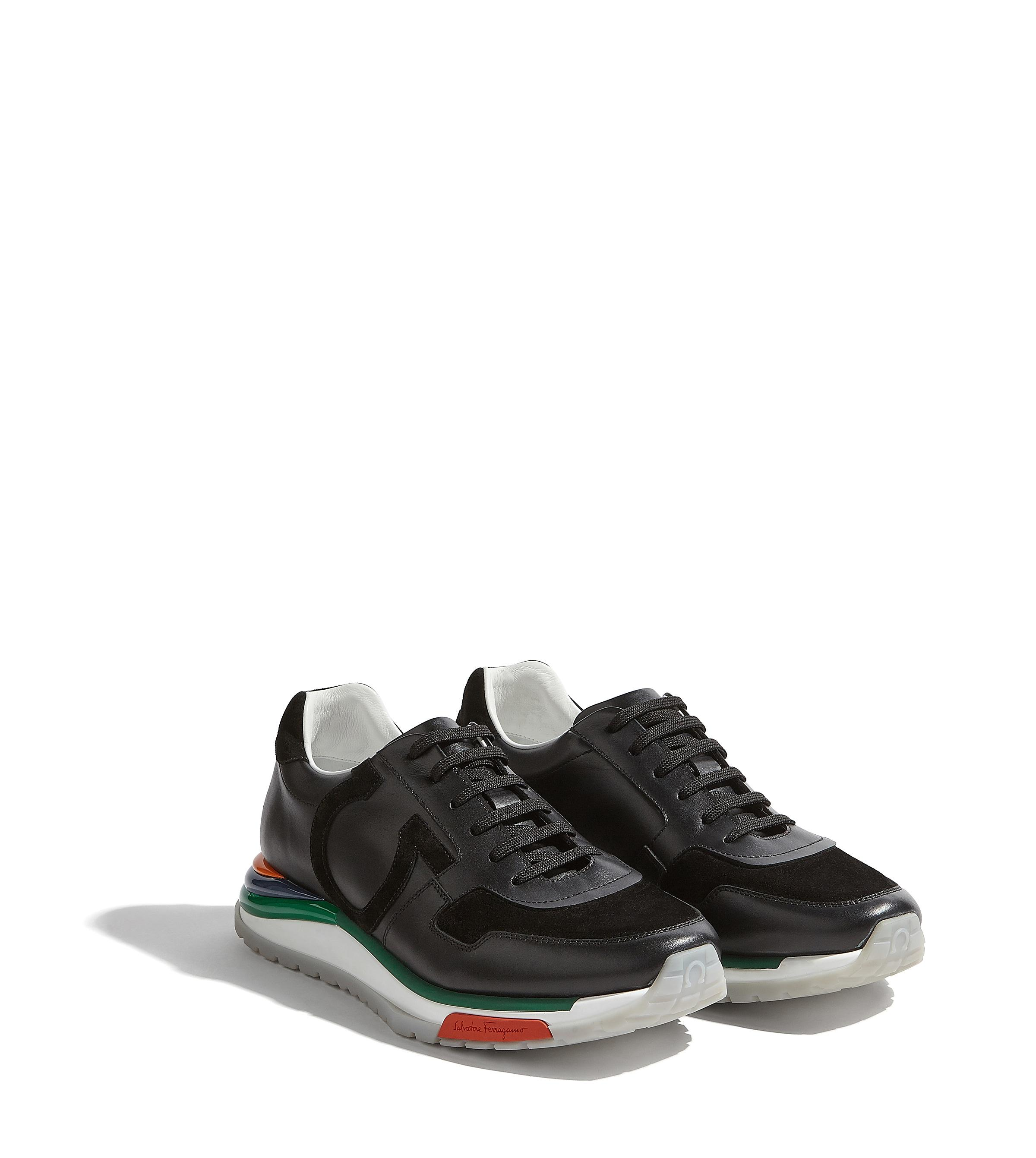 00fbd0cc203 Lyst - Ferragamo Gancini Rainbow Sneaker in Black for Men