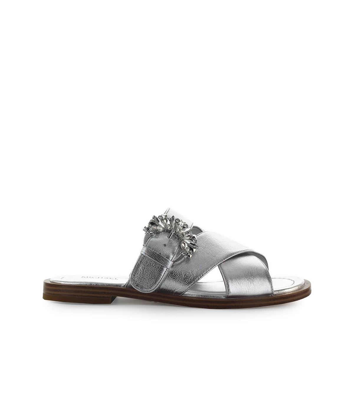 MICHAEL Michael Kors Leather Silver