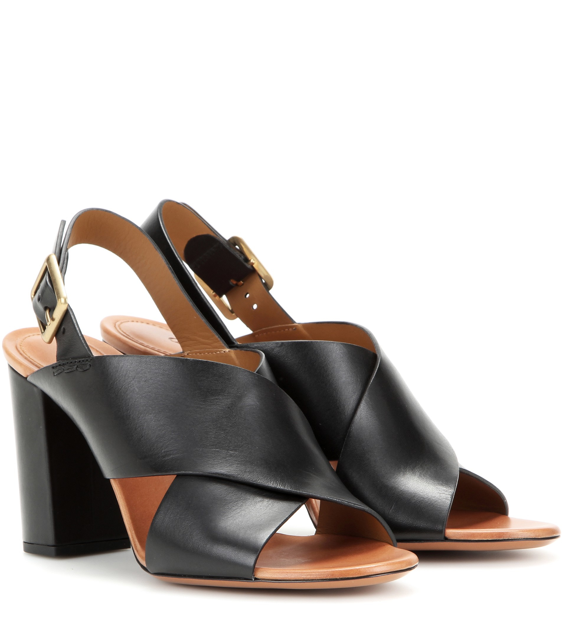 Chloé Leather Sandals in Black - Lyst