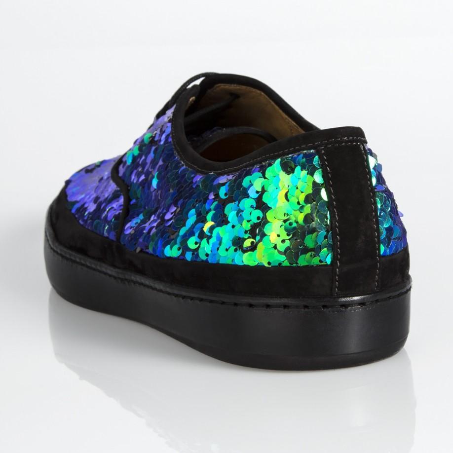 Jim Sequin Sneakers in Green for Men - Lyst