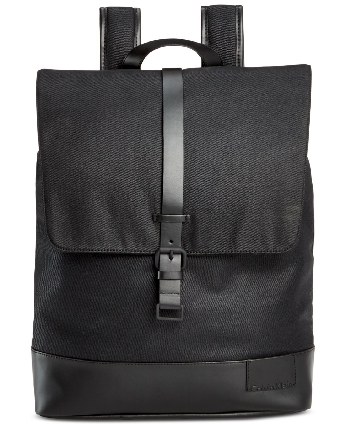 Calvin Klein Coated Canvas Backpack In Black For Men Lyst