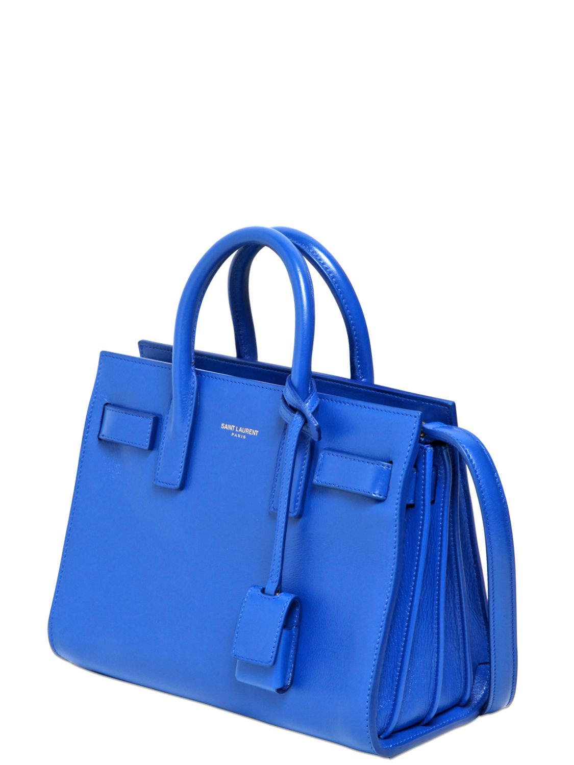 Blue small Sac De Jour bag Saint Laurent pxewWE