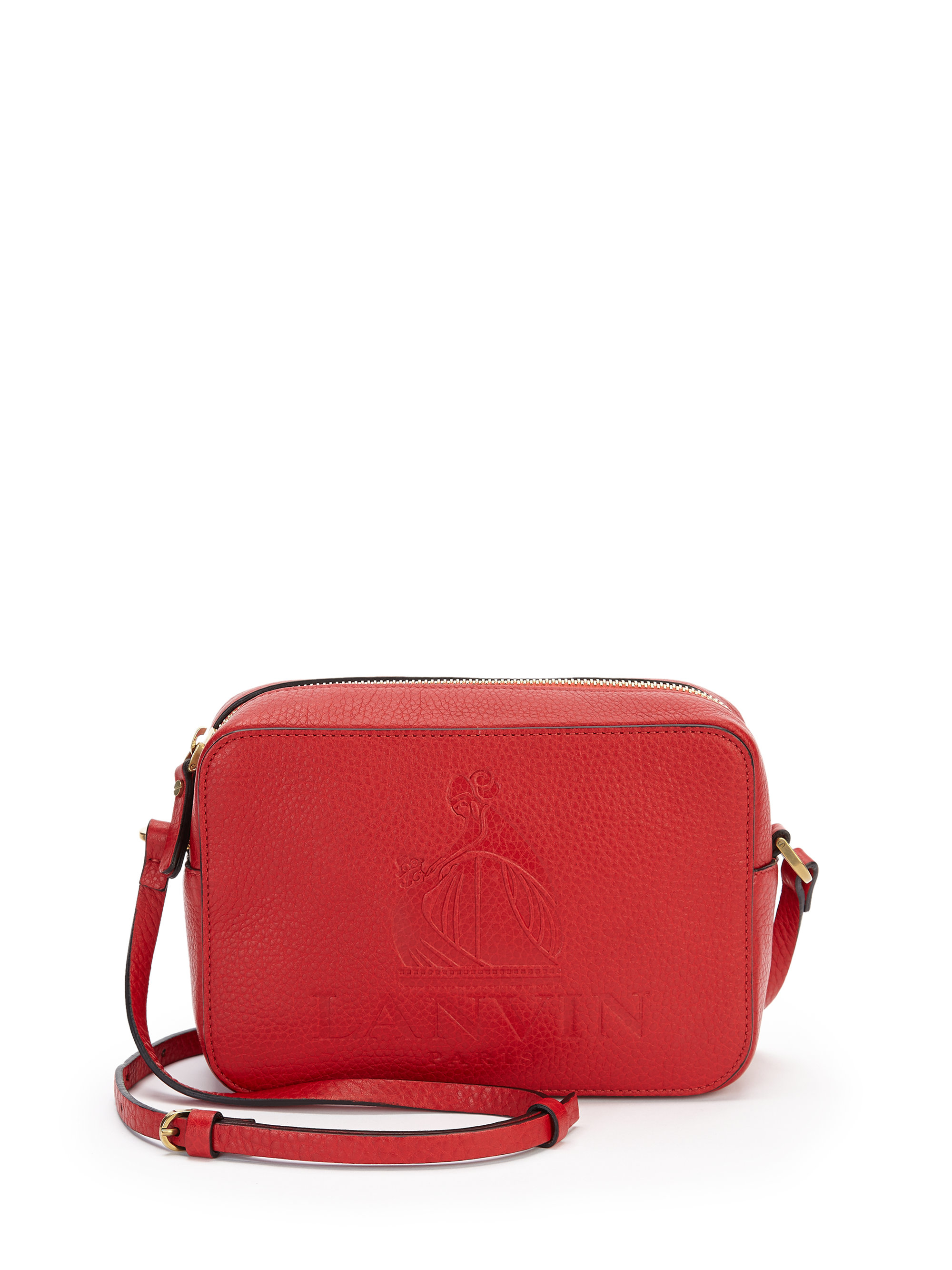 Lanvin Mini So Leather Crossbody Bag in Red | Lyst