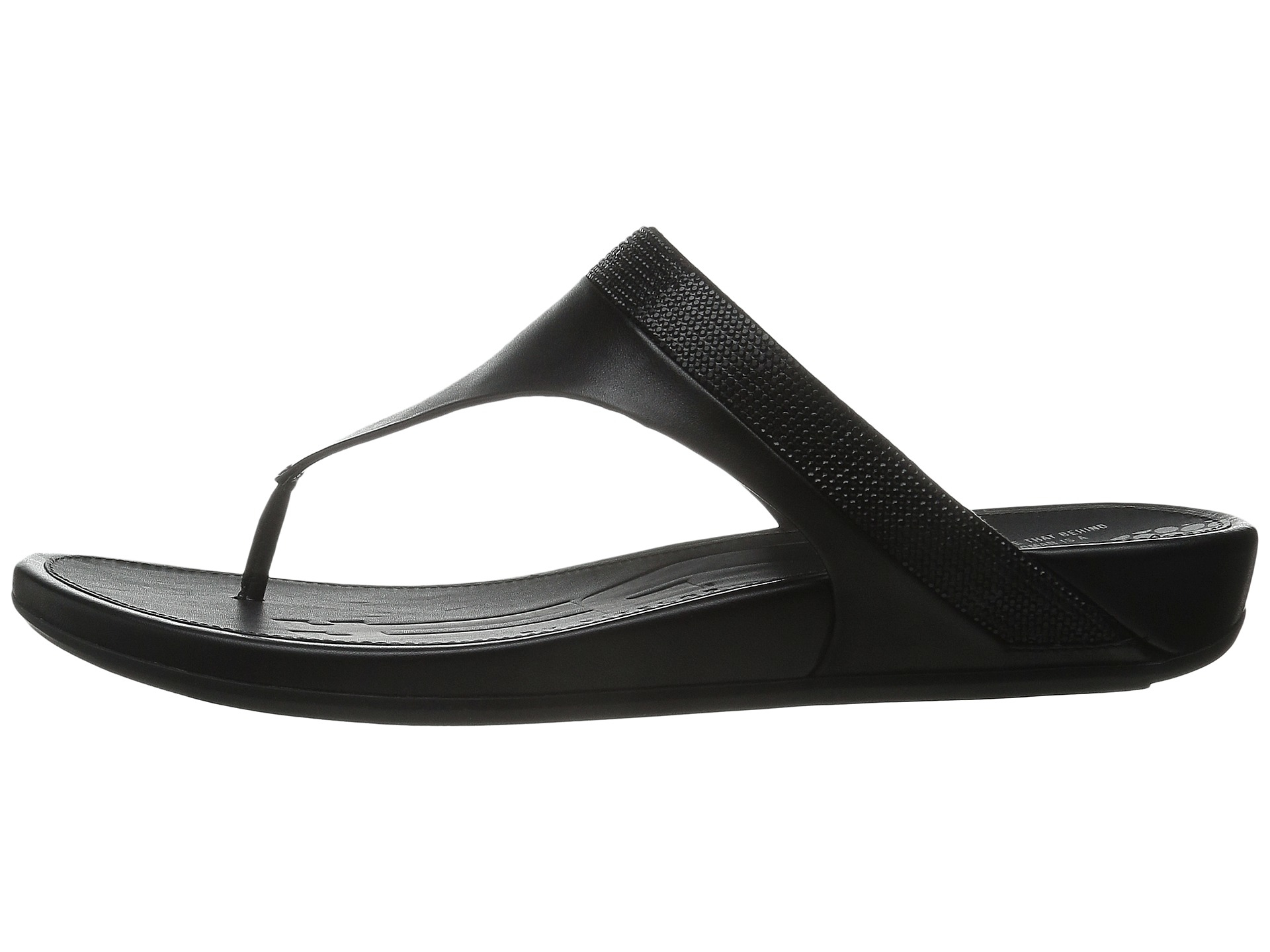 9ef69a07581b Lyst - Fitflop Banda Micro-crystal Toe Post™ in Black