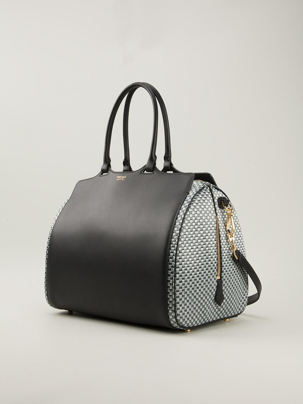 f165963db529 Lyst - Giorgio Armani Bowling Bag in Black