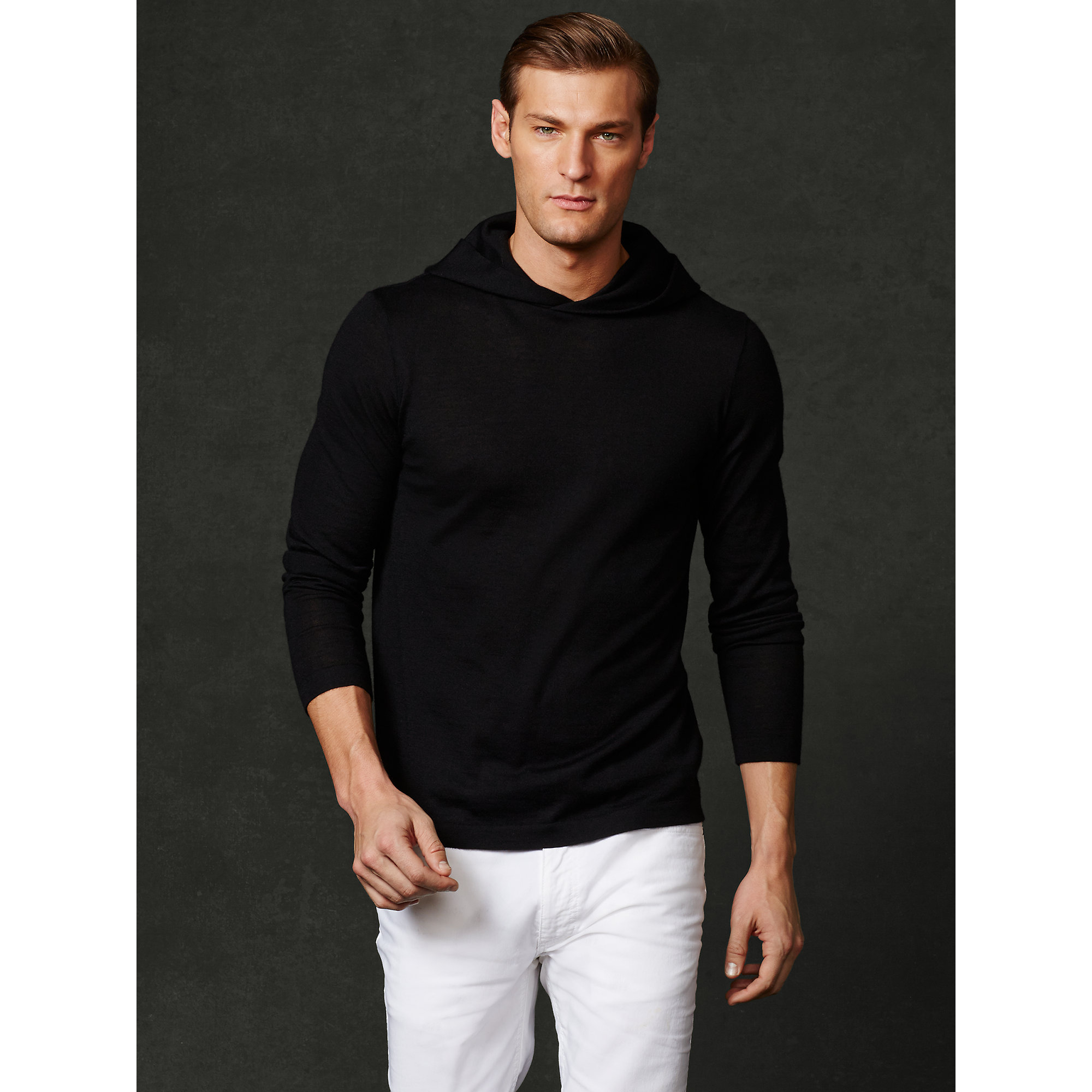 Ralph lauren purple label Cashmere Hooded Sweater in Black for Men ...