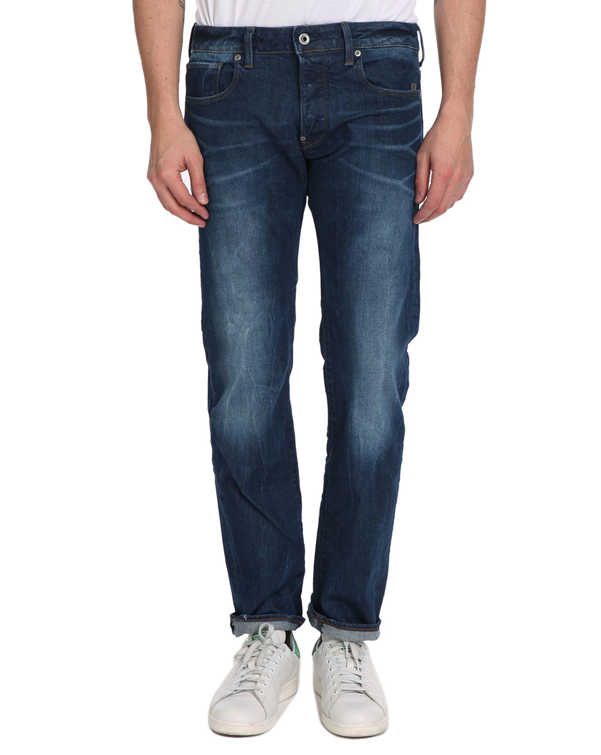 g star raw arc 3d faded slim blue jeans in blue for men lyst. Black Bedroom Furniture Sets. Home Design Ideas