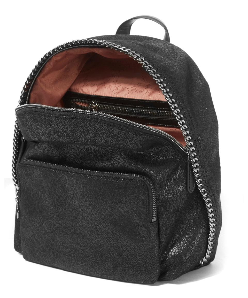 stella mccartney mini black falabella rucksack bag in black lyst. Black Bedroom Furniture Sets. Home Design Ideas