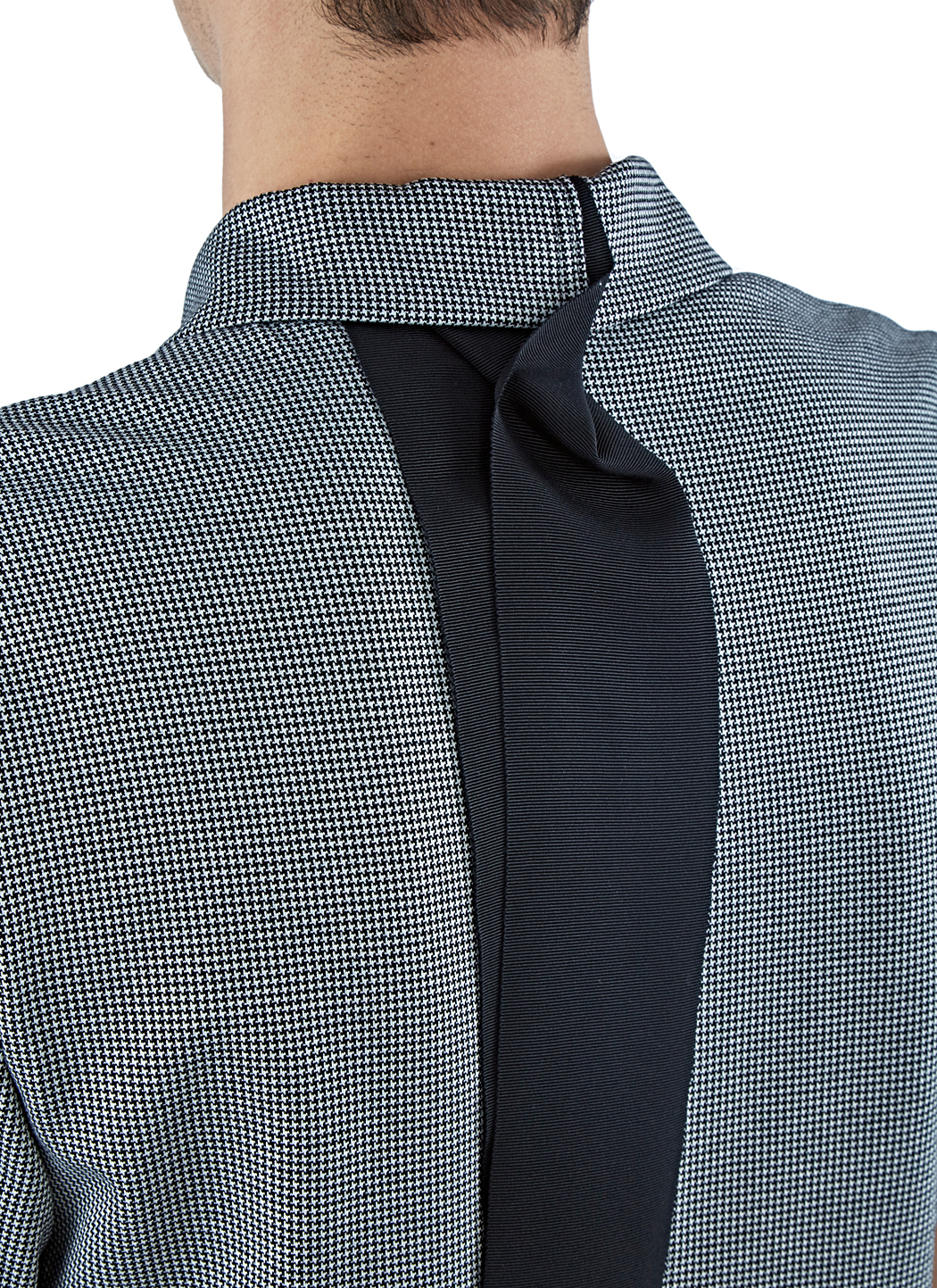 Yang Li Cotton Men's Houndstooth Polo Shirt In Black in Blue for Men