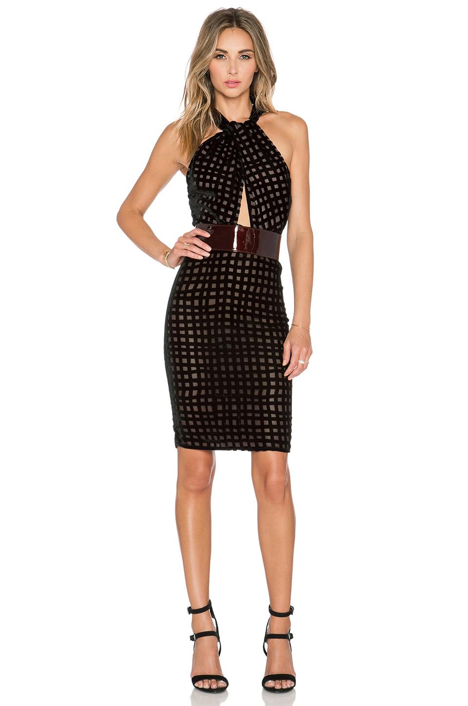Bec & Bridge Velvet Knee-length Dress in Black - Lyst