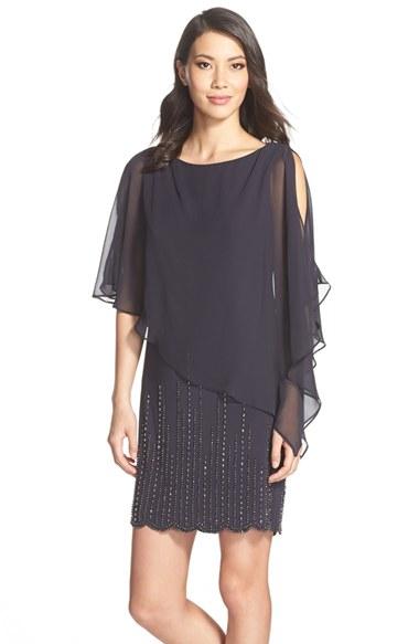 ff341260005e0 Xscape Chiffon Overlay Beaded Jersey Dress Plus Size - Photo Dress ...