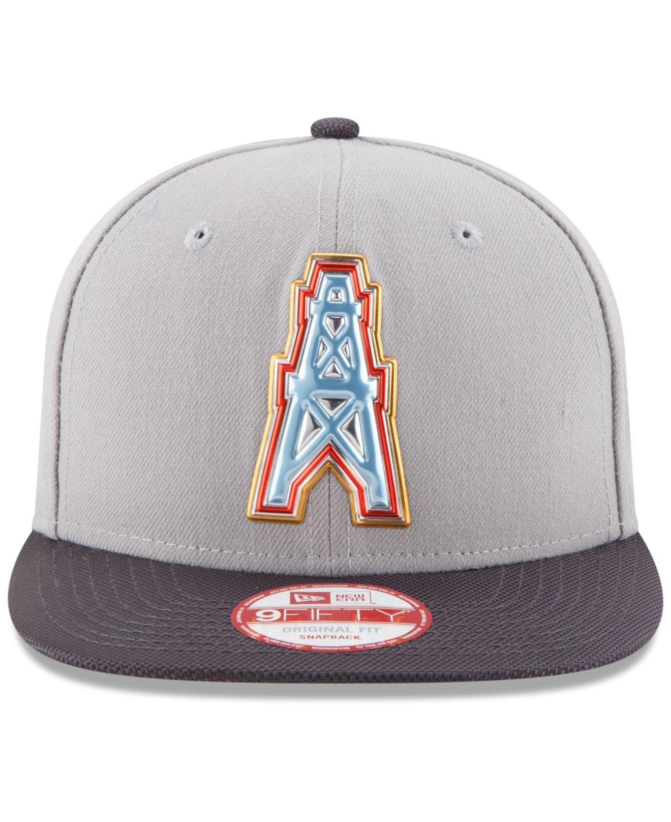 Lyst - KTZ Houston Oilers Gold Collection 9fifty Snapback Cap in Gray for  Men a235dfd3a