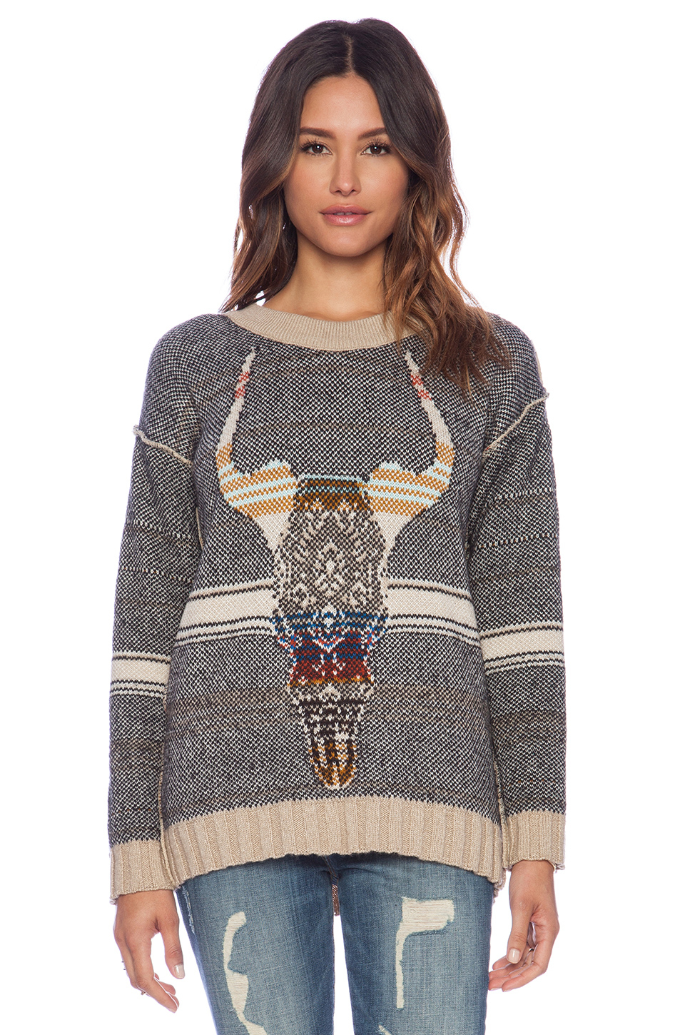 Jen S Pirate Booty Desert Queen Sweater In Natural Lyst