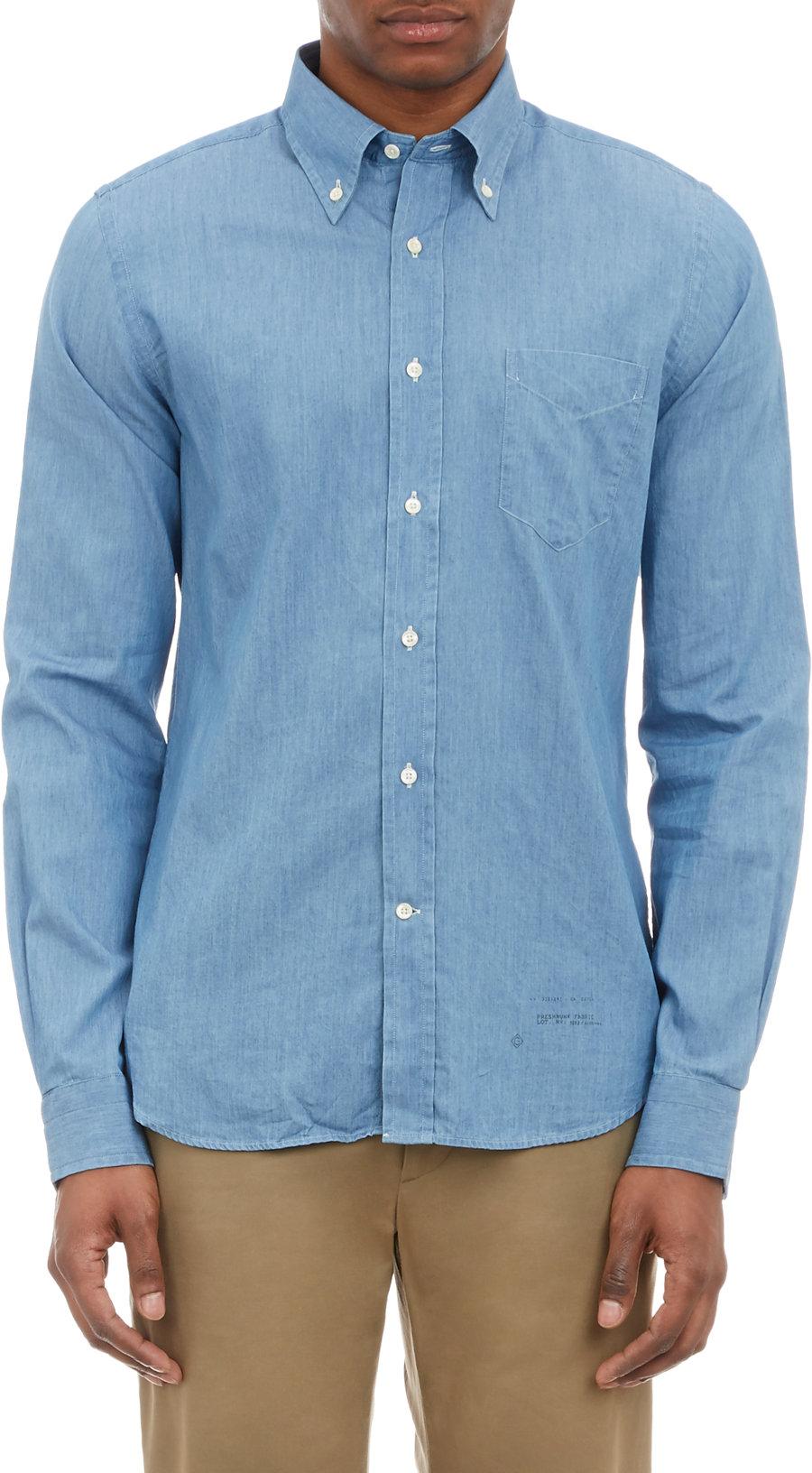 32618e0f9ea Gallery. Previously sold at: Barneys Warehouse · Men's Chambray Shirts