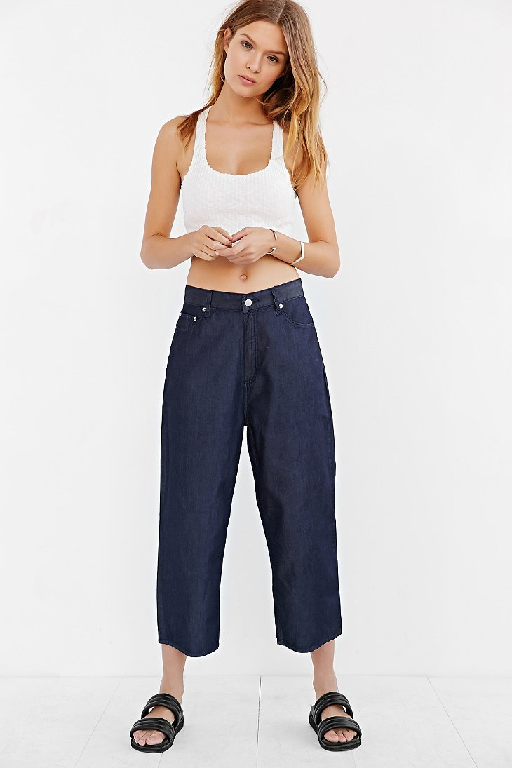 Cheap monday Omega Cropped Jean - Flow in Blue  Lyst