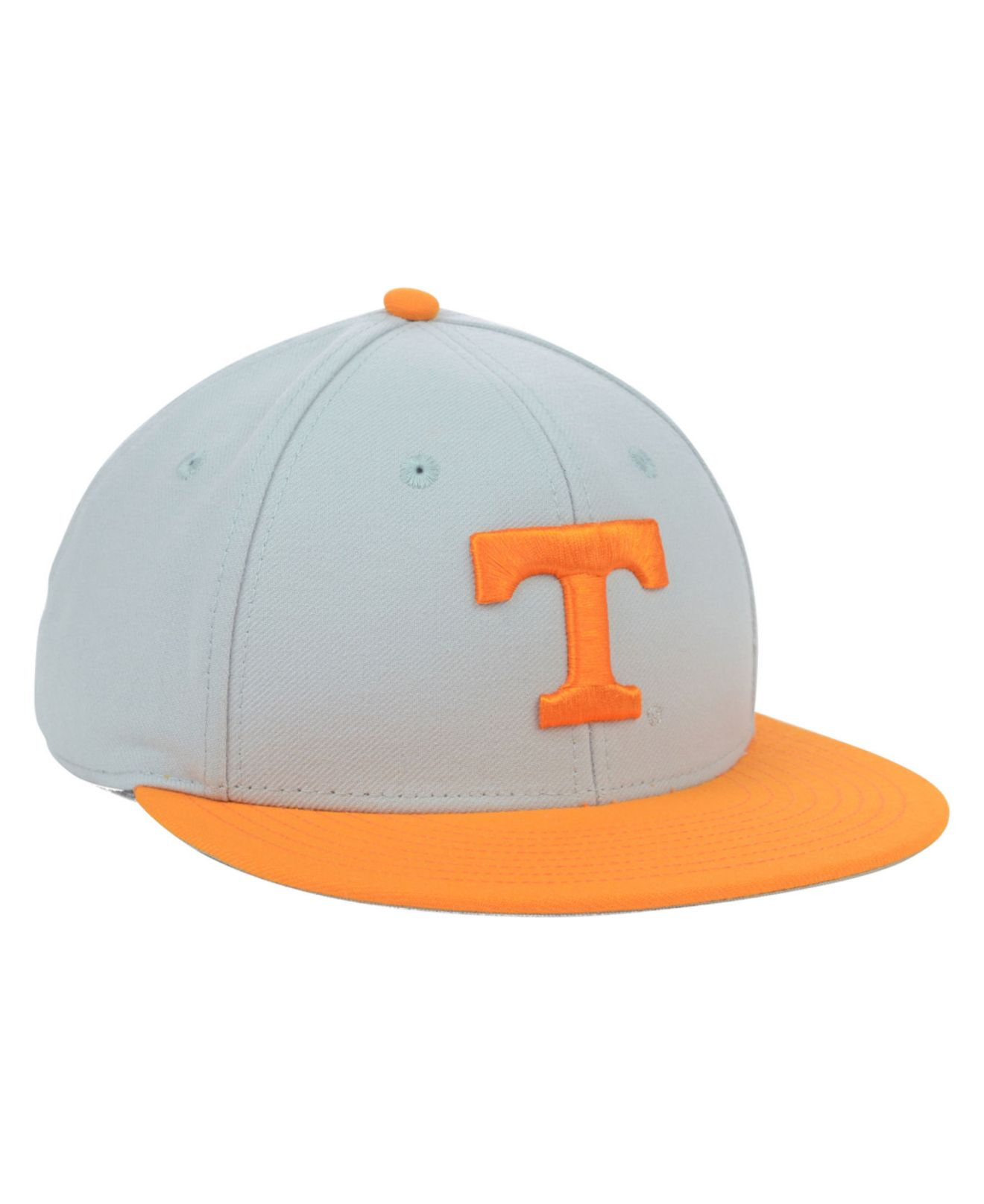S//M NEW GREY//ORANGE ADIDAS TENNESSEE VOLUNTEERS ON-FIELD BASEBALL CAP HAT