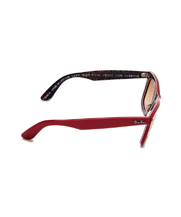 e22c93924e119 Lyst - Ray-Ban Ray Ban Rb2140 Original Wayfarer 109151 Top Red On Freedom  Rare