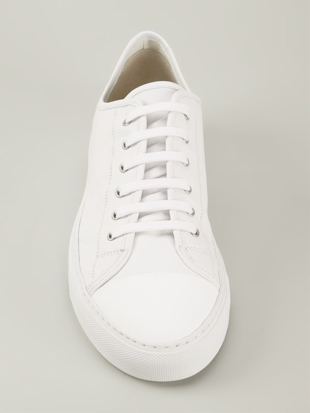 common projects lace up sneakers in white for men lyst. Black Bedroom Furniture Sets. Home Design Ideas