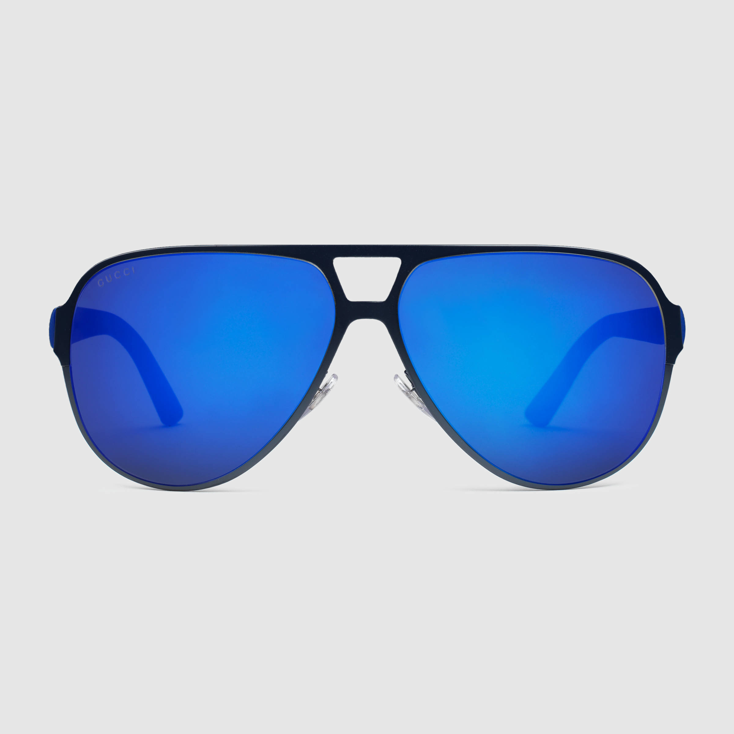 Gucci Light Steel Aviator Sunglasses In Blue For Men Lyst
