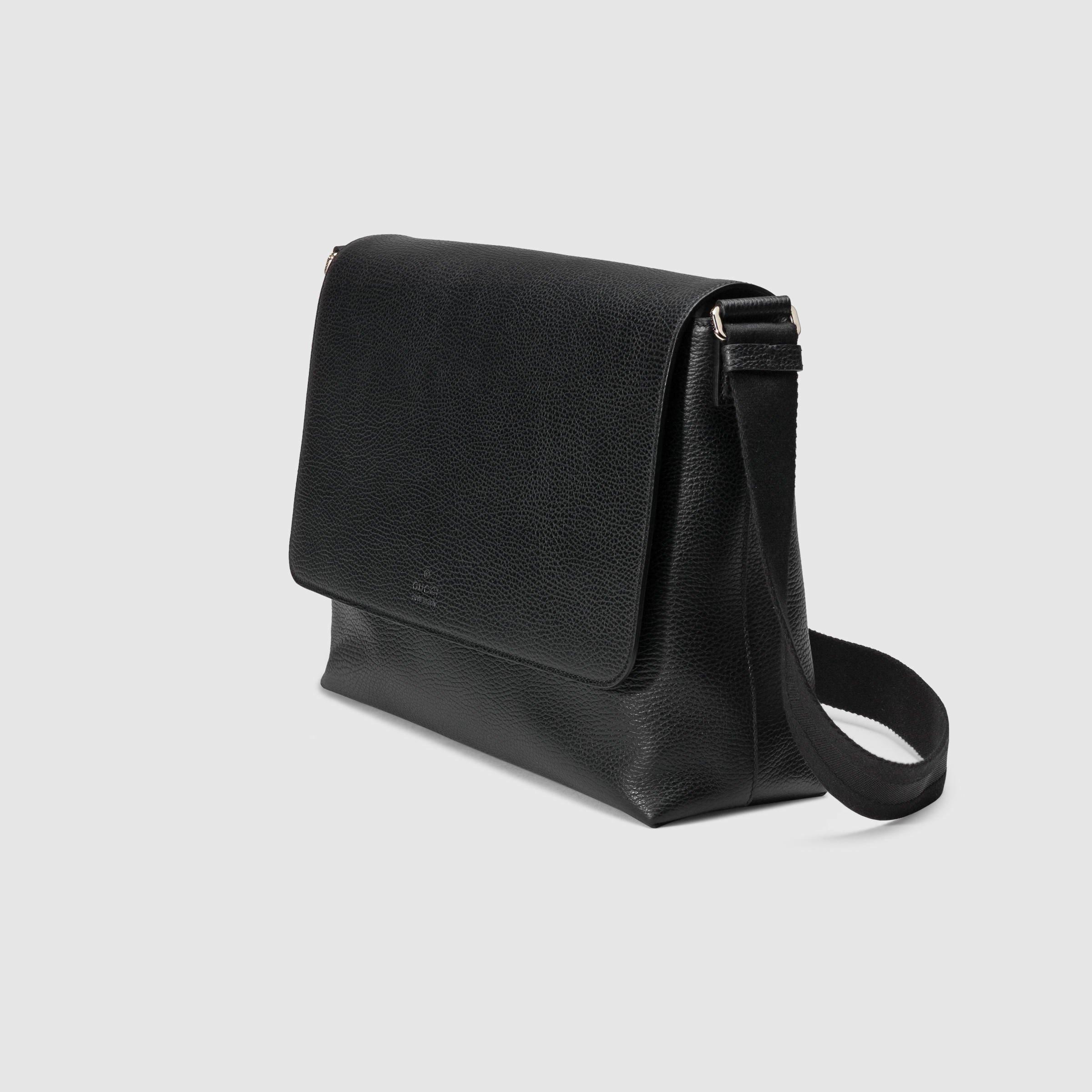 a83cd4b38 Men's Black Leather Messenger Bag