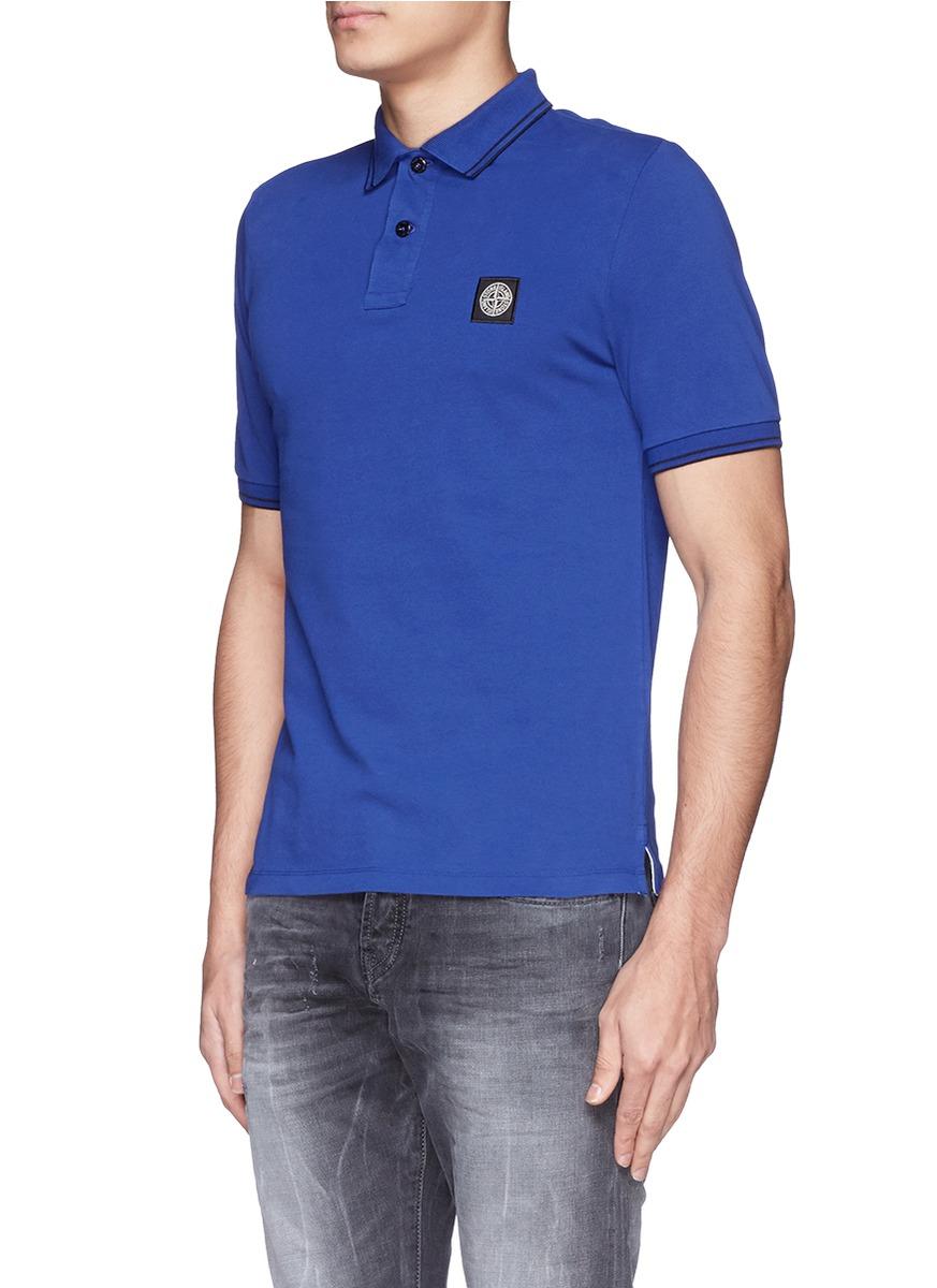 Stone Island Navy Badge Polo Shirt