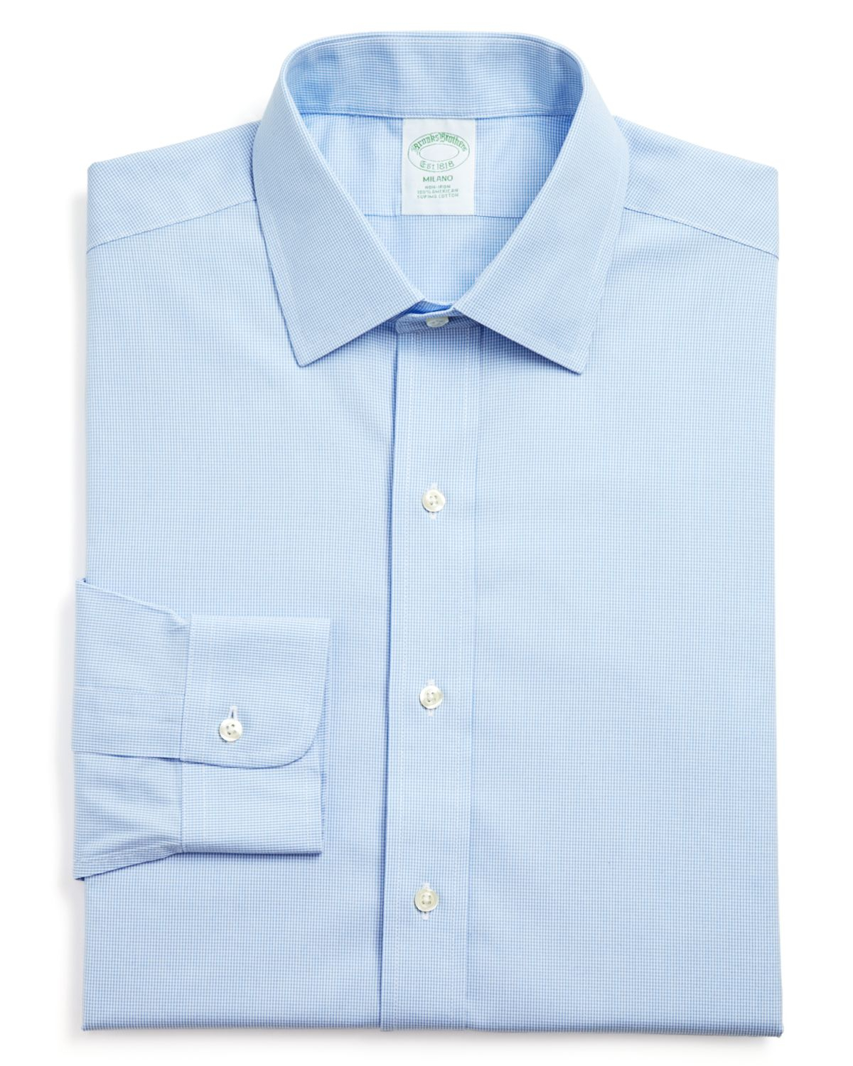 Brooks brothers micro houndstooth non iron dress shirt for Brooks brothers dress shirt fit guide