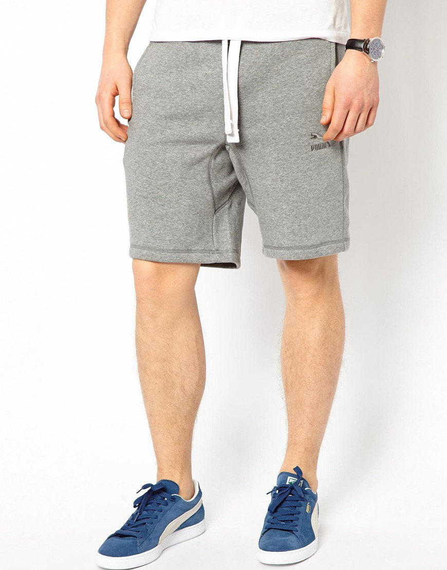 a8ba6635a475 Lyst - PUMA Sweat Shorts in Gray for Men