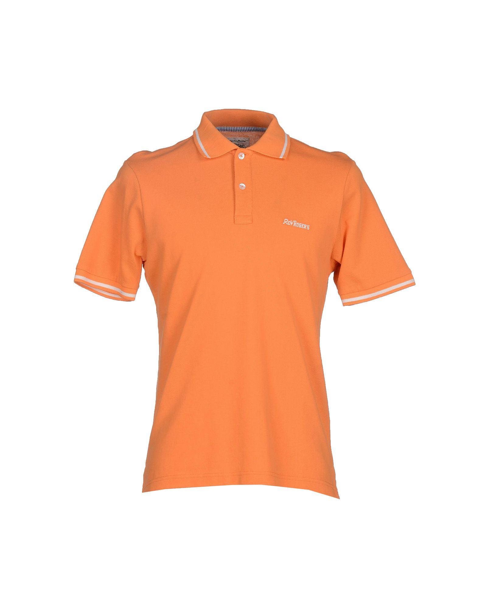 Lyst roy rogers polo shirt in orange for men for Orange polo shirt mens