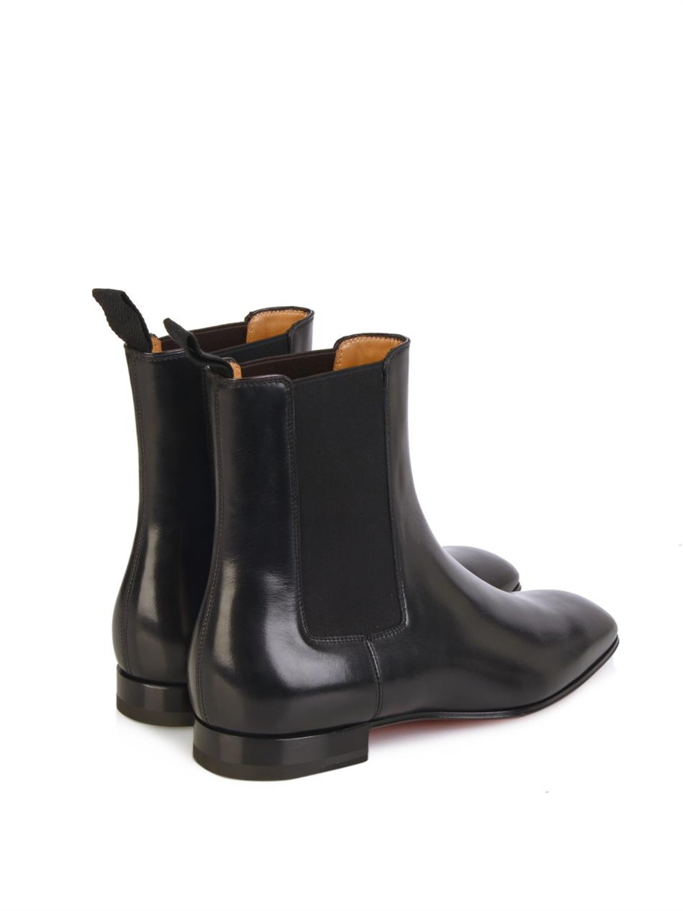 58dcc8b2917 Lyst - Christian Louboutin Broadie Leather Chelsea Boots in Black ...