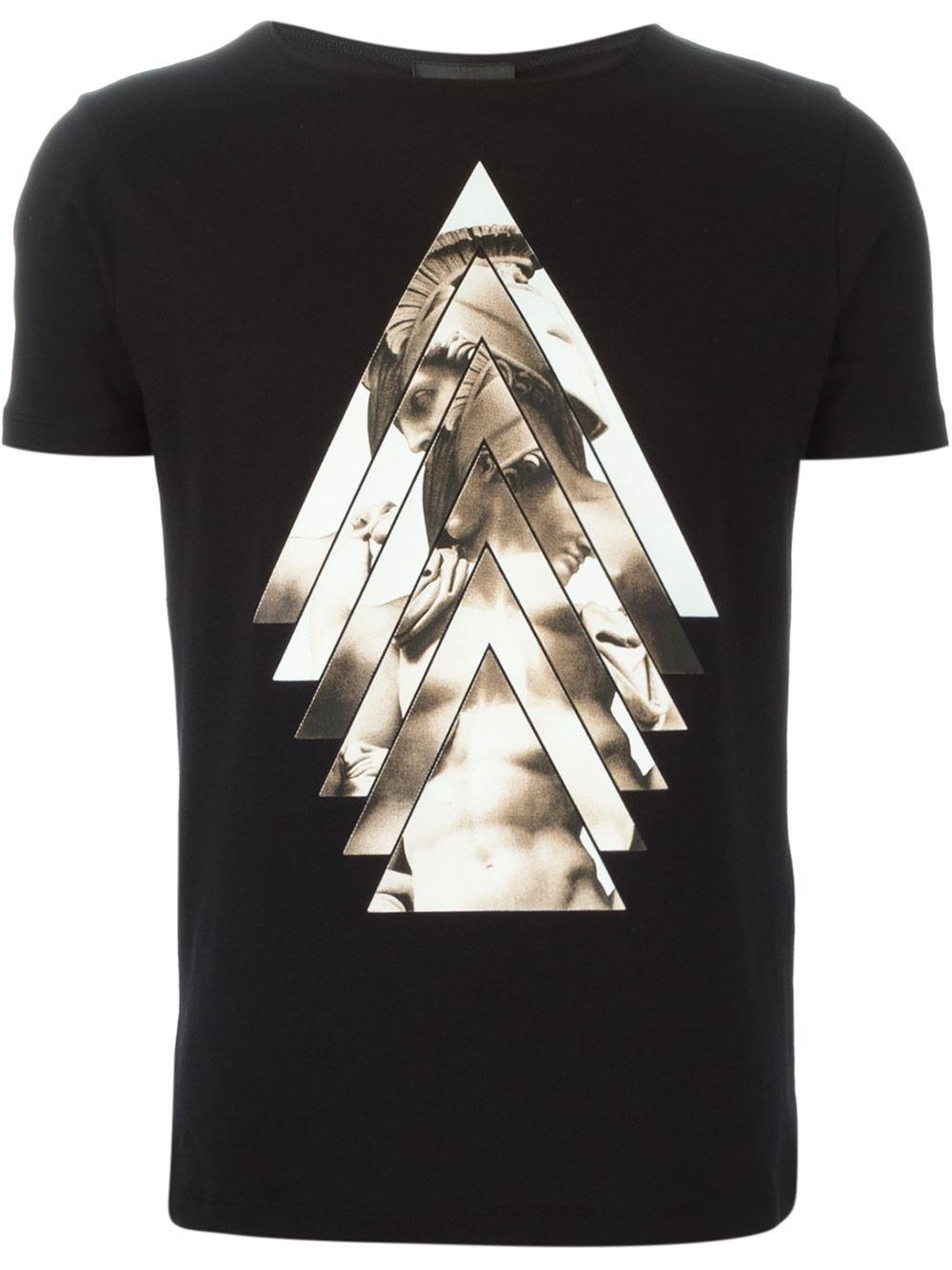 Emporio Armani 39 David 39 Print T Shirt In Black For Men Lyst